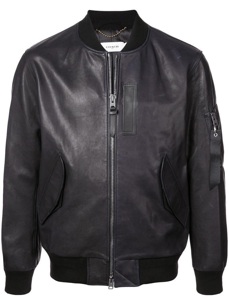bb337dbaa55 Lyst - COACH Ma-1 Jacket in Black for Men