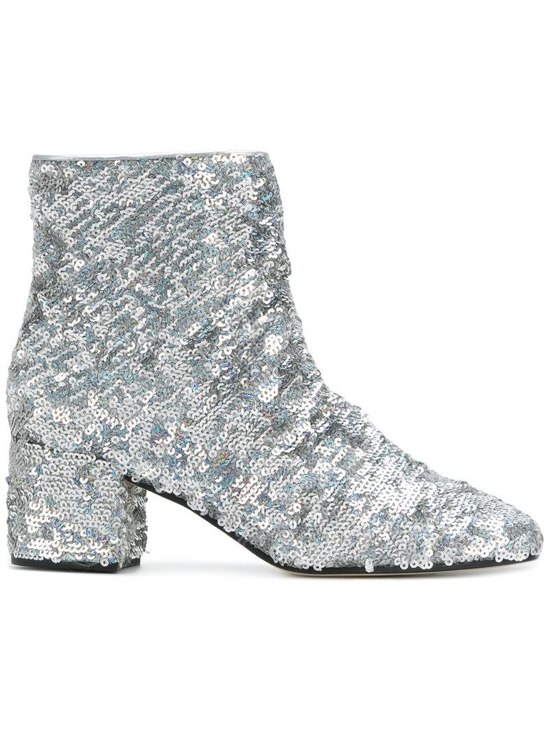MARC ELLIS Sequin ankle boots 1SiOaaYhK