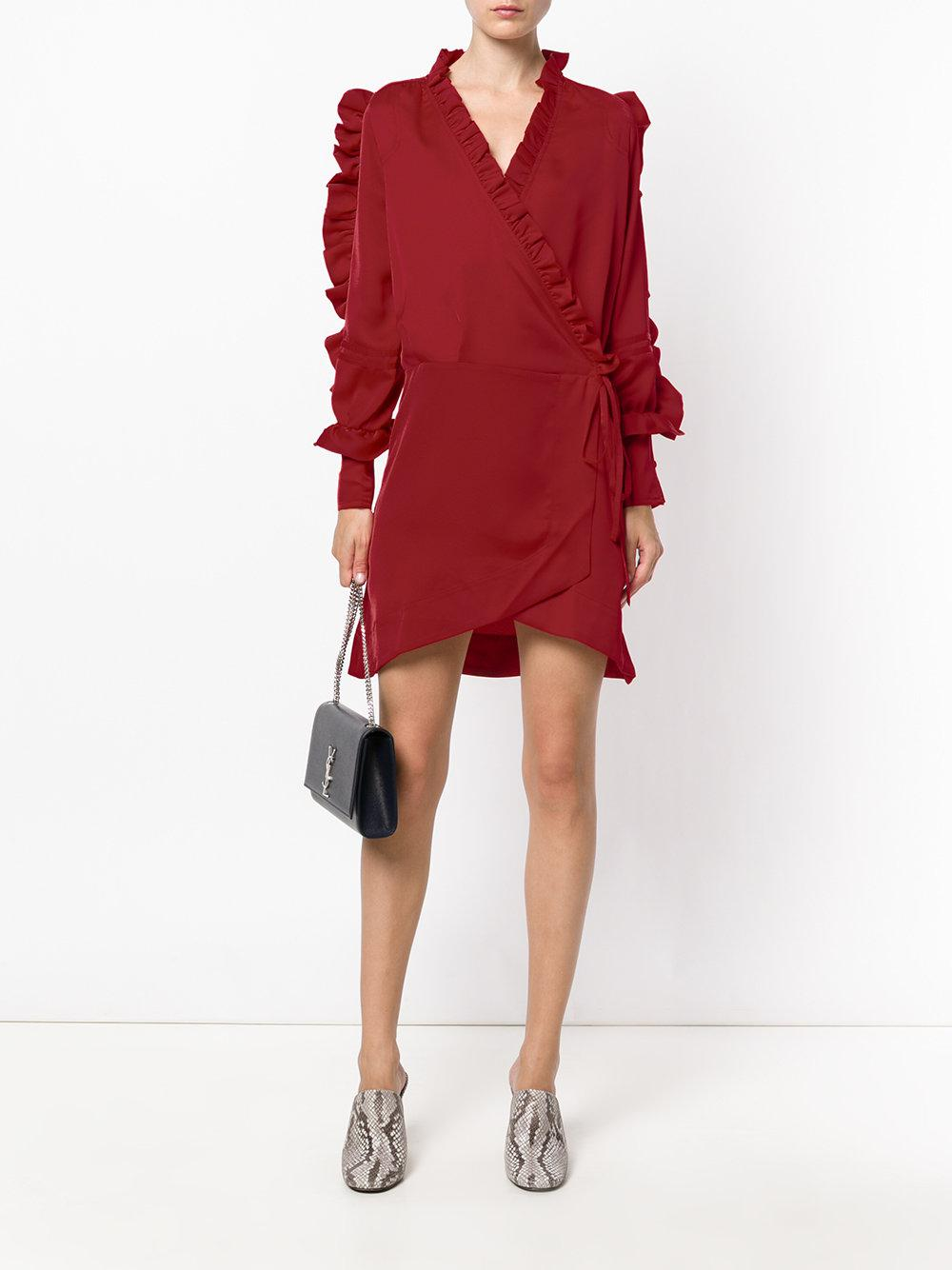 ruffle detail short dress - Red iiL7 rl8uP