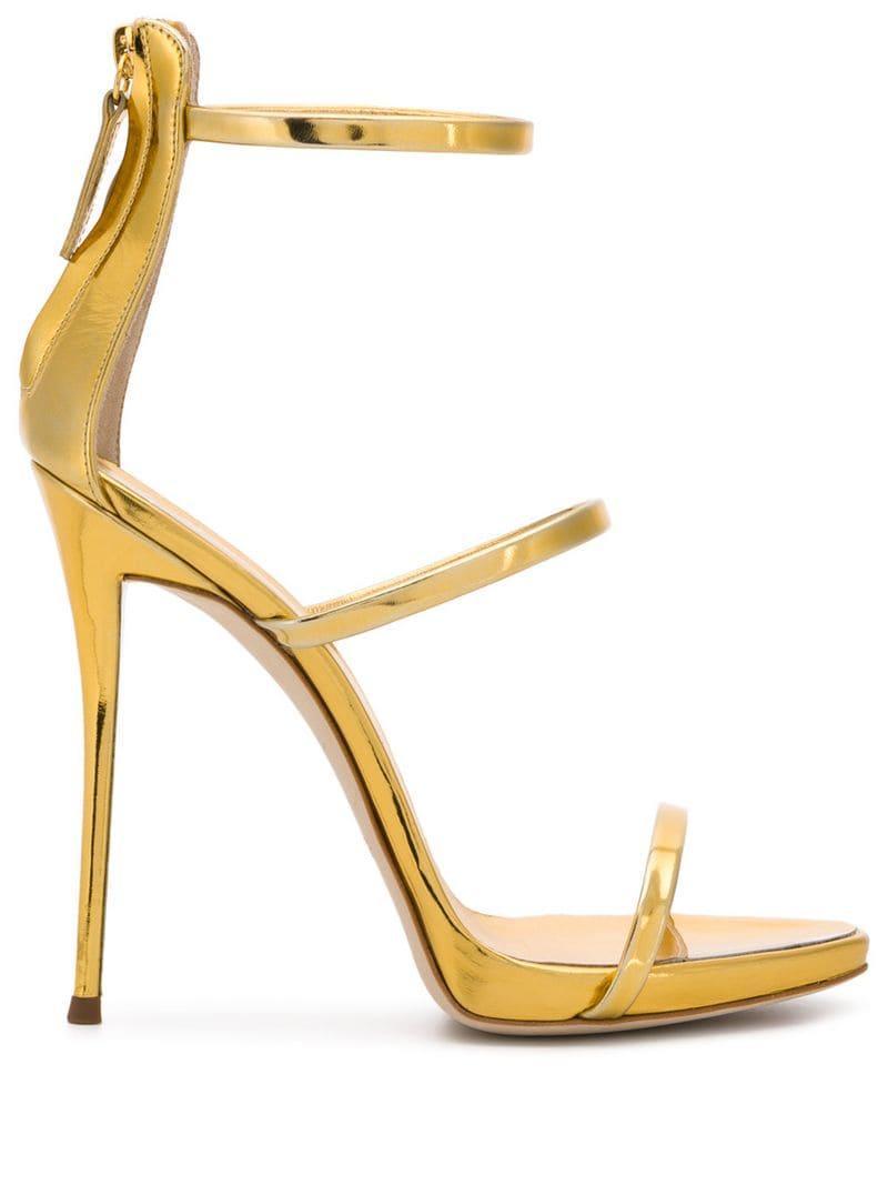 b04811017a541 Lyst - Giuseppe Zanotti Harmony Sandals in Metallic