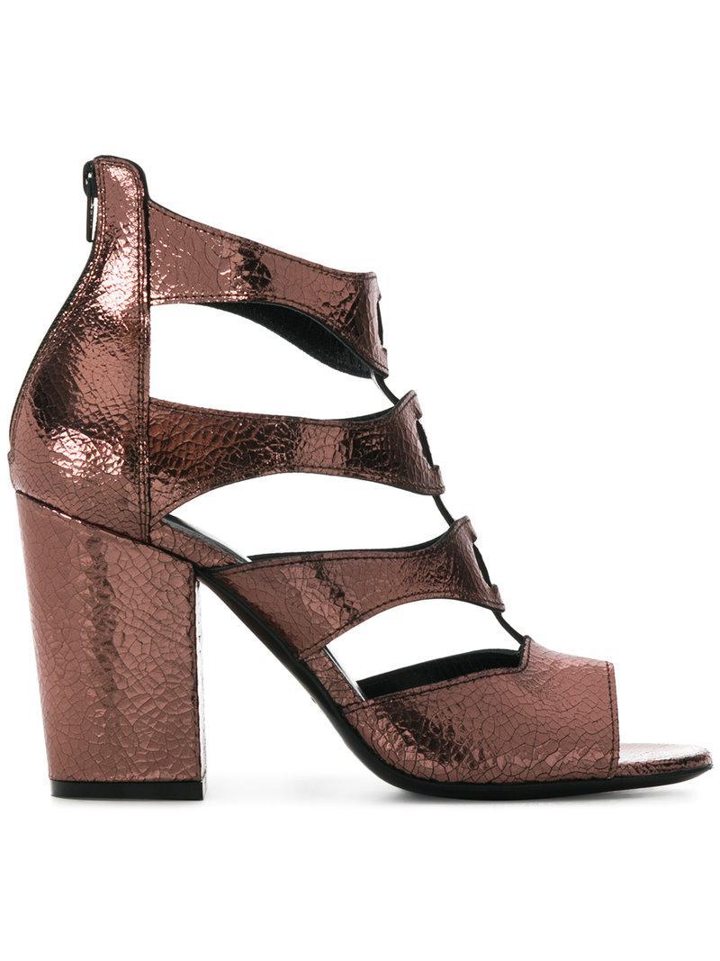 strappy sandals - Metallic Strategia zZNAv