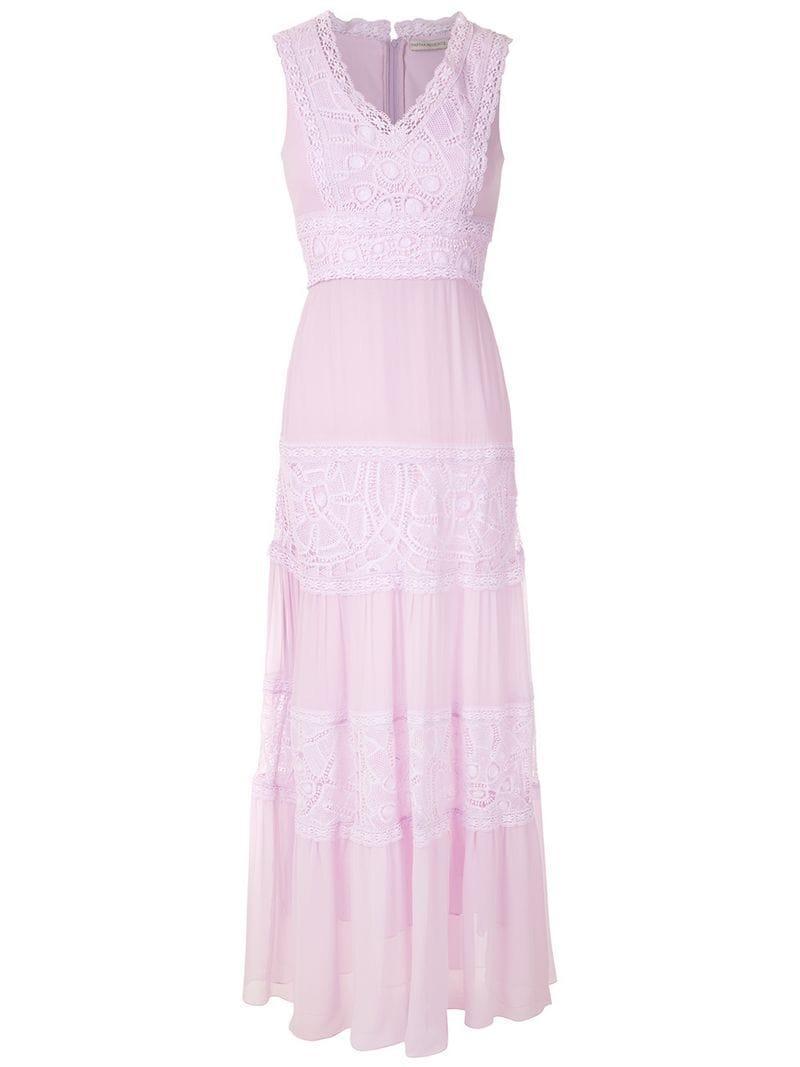 c227cbb6dfc Martha Medeiros Zil Long Dress in Pink - Lyst