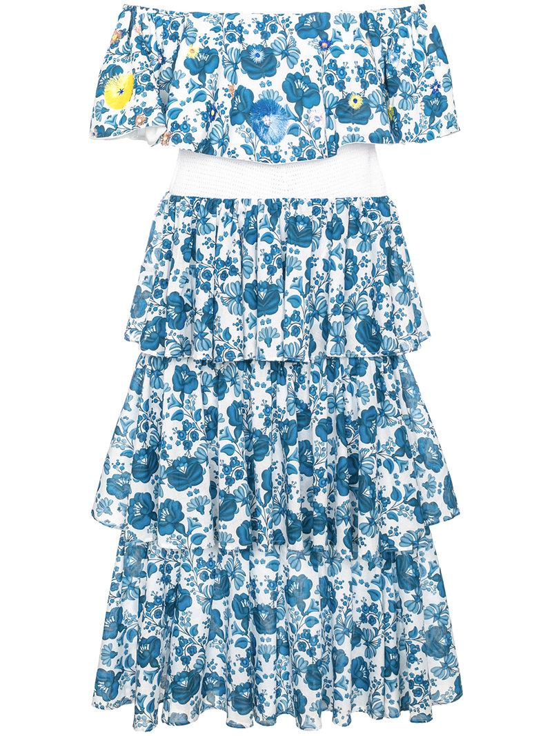 Cheap Find Great Philippa Ruffled Printed Linen Wrap Dress All Things Mochi Lowest Price Cheap Sale Great Deals Find Great Cheap Price 1OZZbhG
