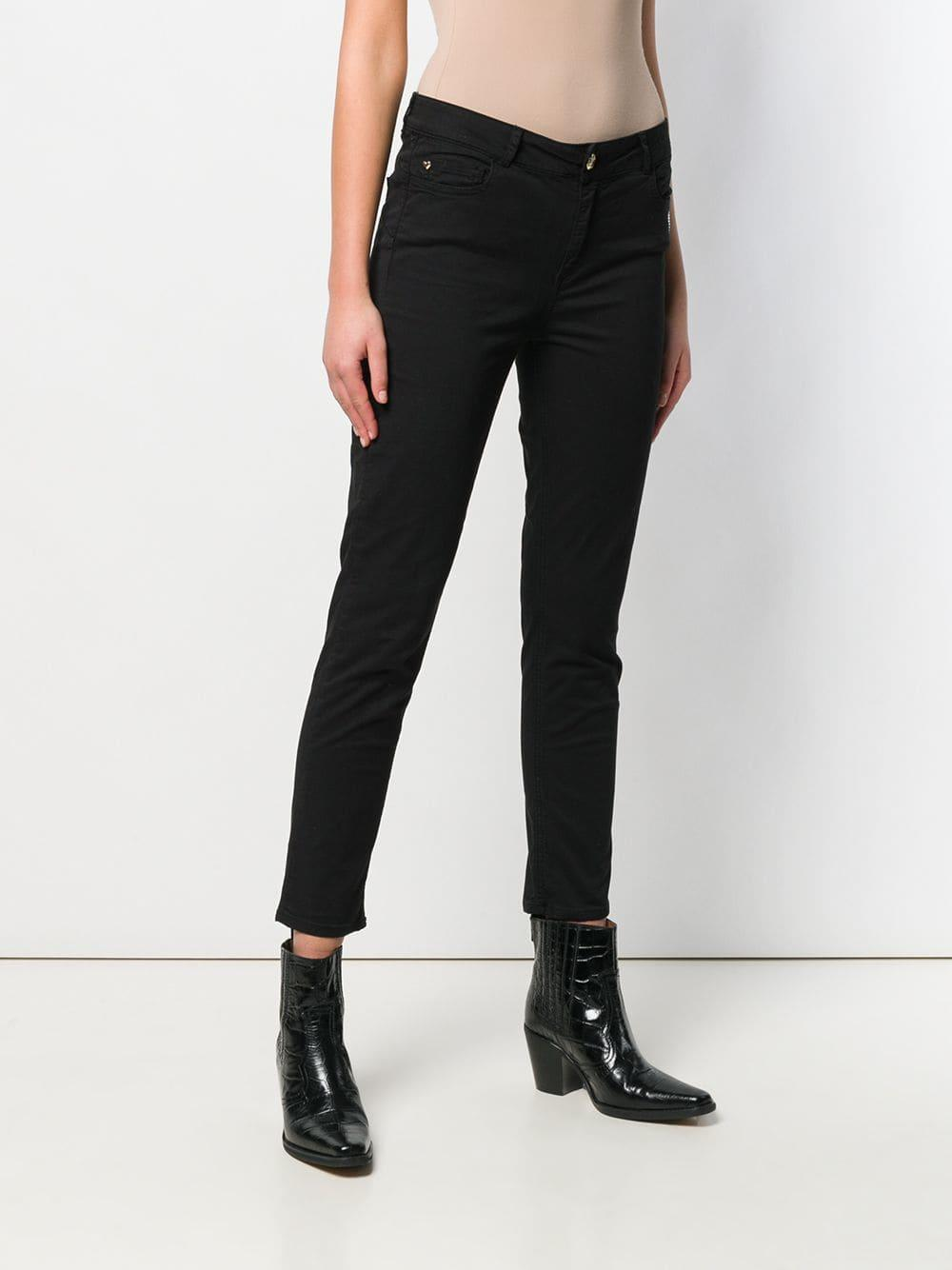 4235949929a ... Heart Detail Cropped Skinny Jeans - Lyst. View fullscreen