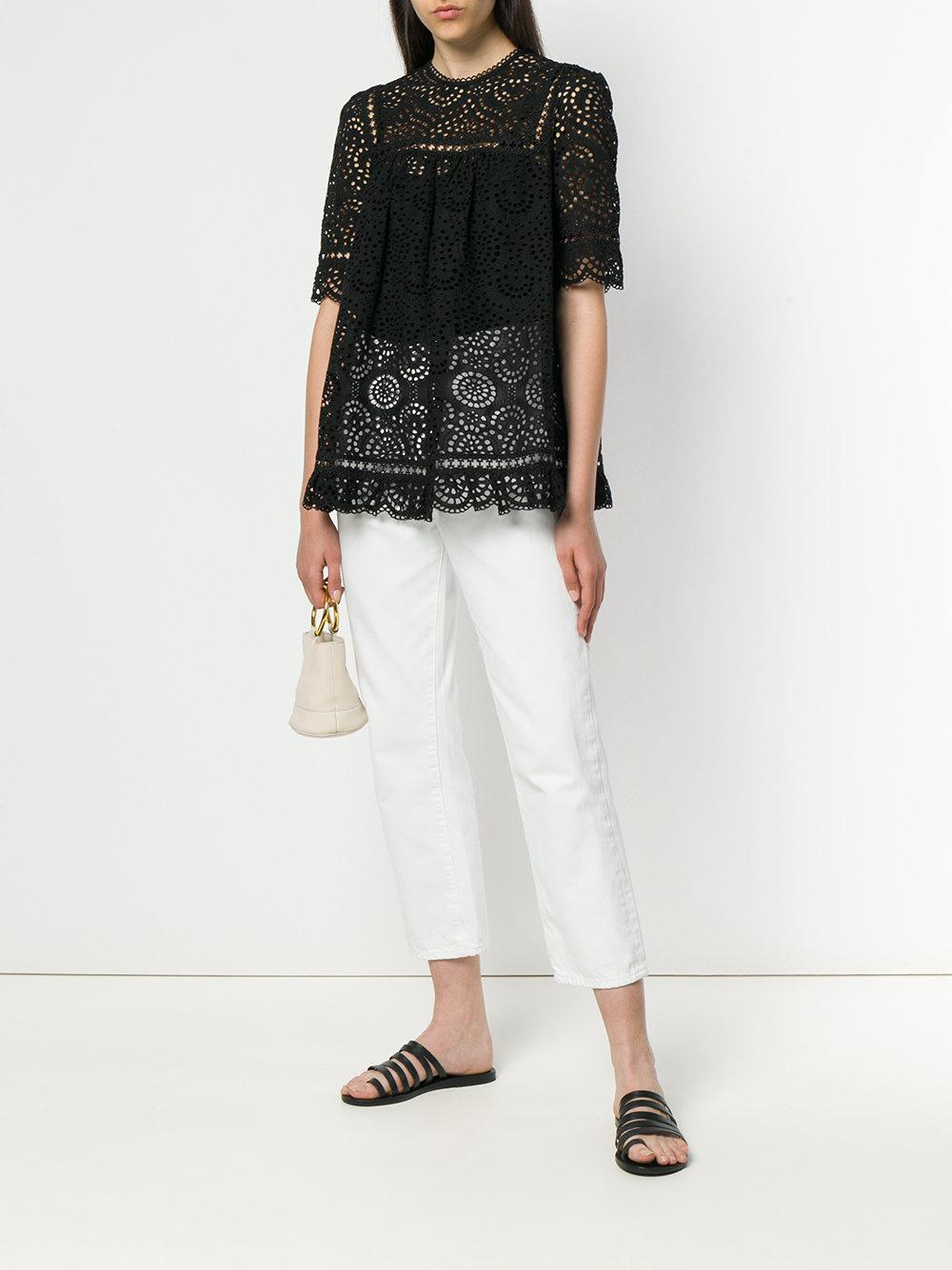 Tali Swirl swing top - Black Zimmermann 100% Guaranteed Cheap Fake Footaction Sale Online Cheap 2018 Low Price For Sale MqdPWMghbZ