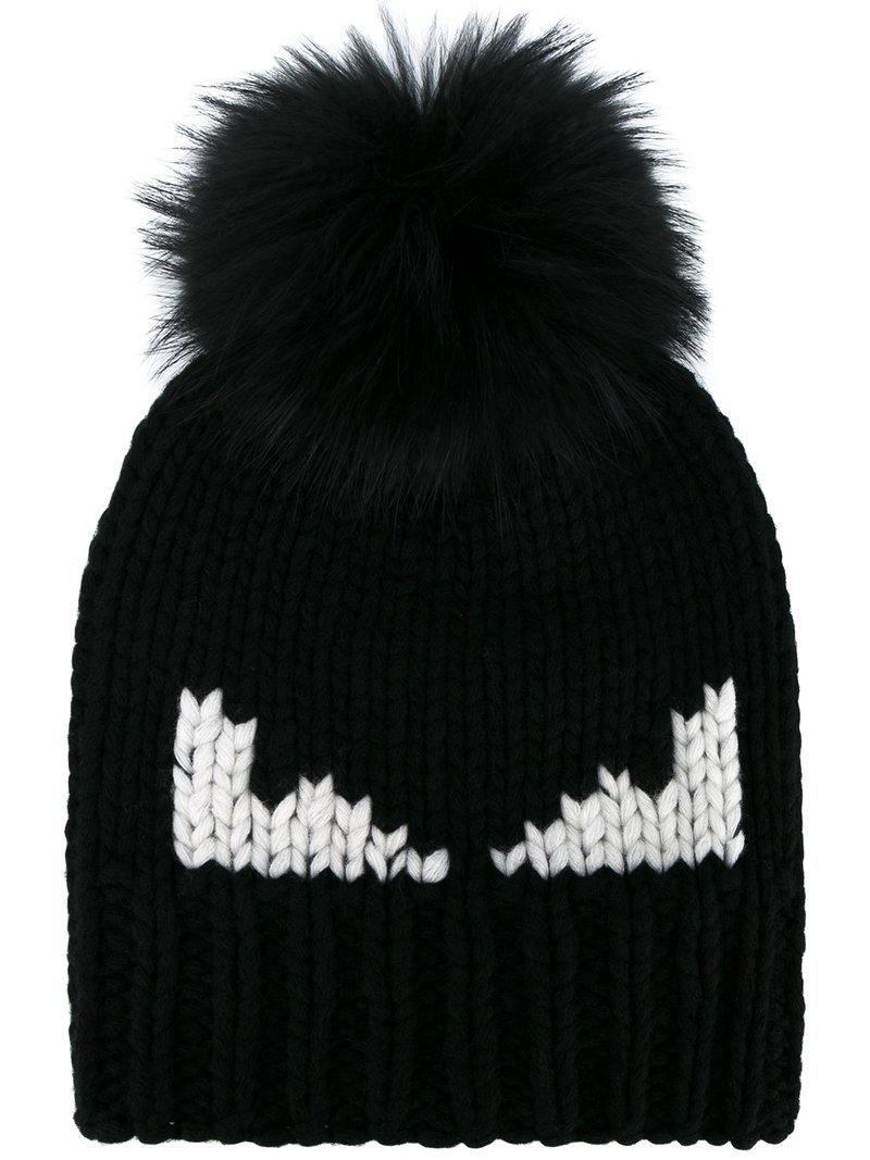 Lyst - Bonnet Bag Bugs Fendi en coloris Noir 15aa6111e16