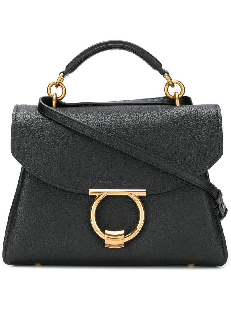ea70eda2f3b1 Ferragamo Margot Tote in Black - Save 22.993340343498076% - Lyst