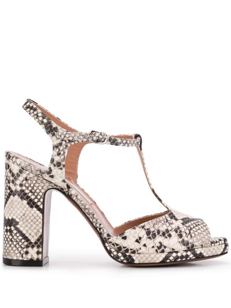 17c90502a7c L Autre Chose High Heel Sandals in White - Lyst