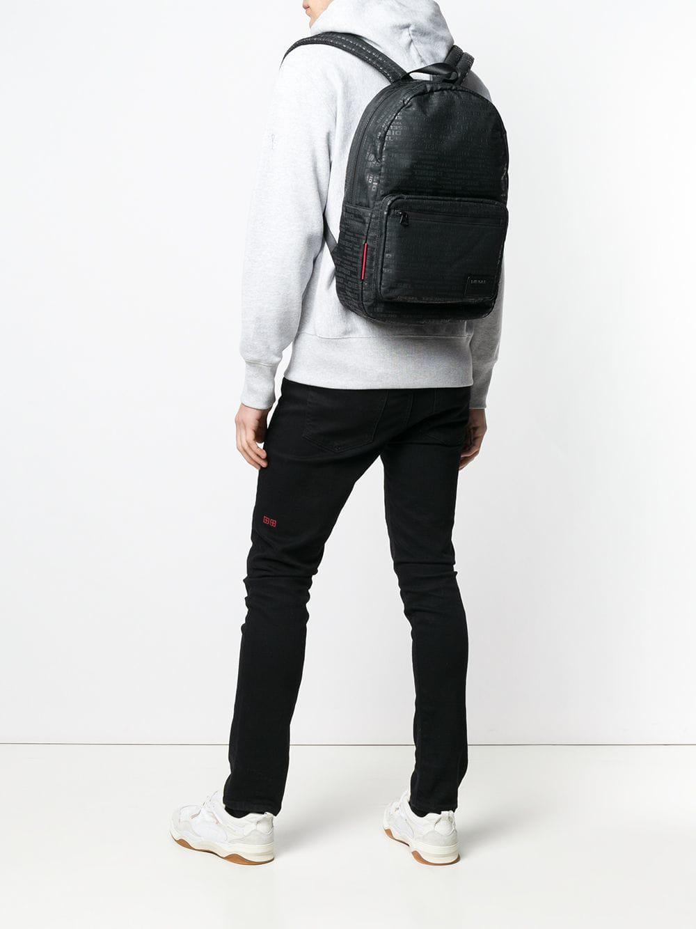f1b59fd2641 Lyst - DIESEL Logo Print Backpack in Black for Men
