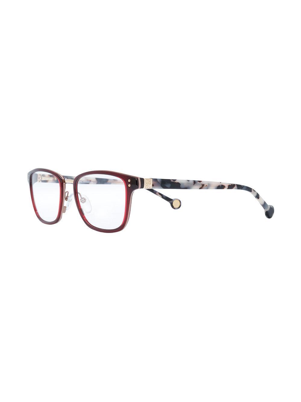 705708f59e CH by Carolina Herrera - Brown Rectangular Shape Glasses - Lyst. View  fullscreen