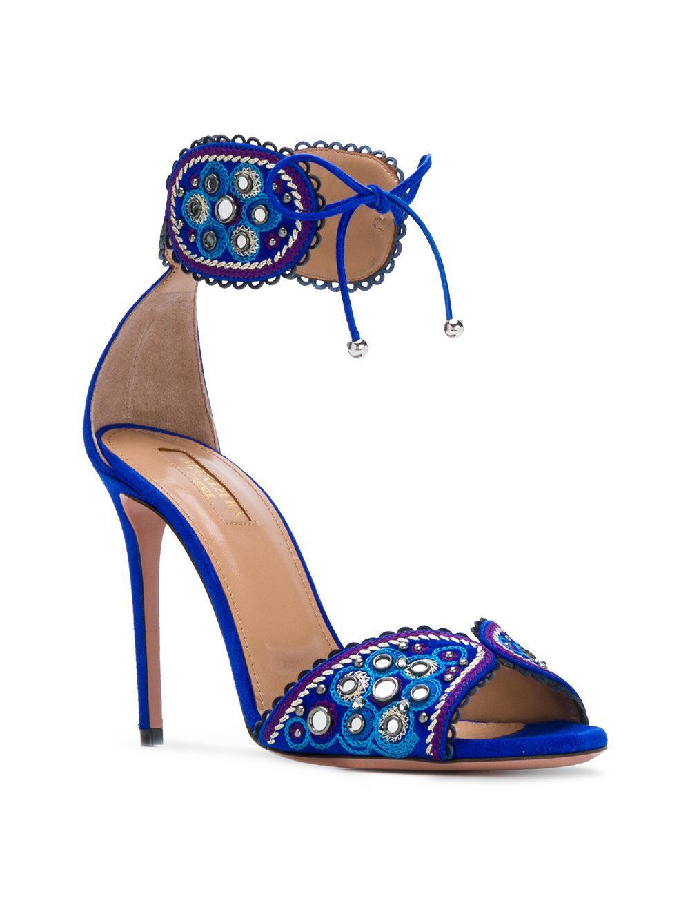 fbd0473c7 Lyst - Aquazzura Jaipur Sandals in Blue - Save 48%