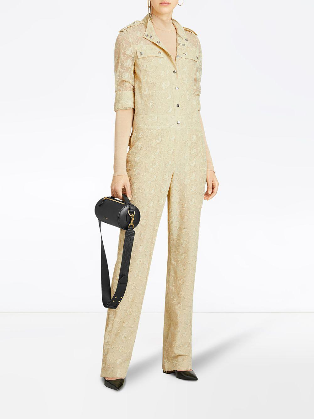 0e7e235c188 Burberry Floral Lace Jumpsuit in Yellow - Save 50.0% - Lyst