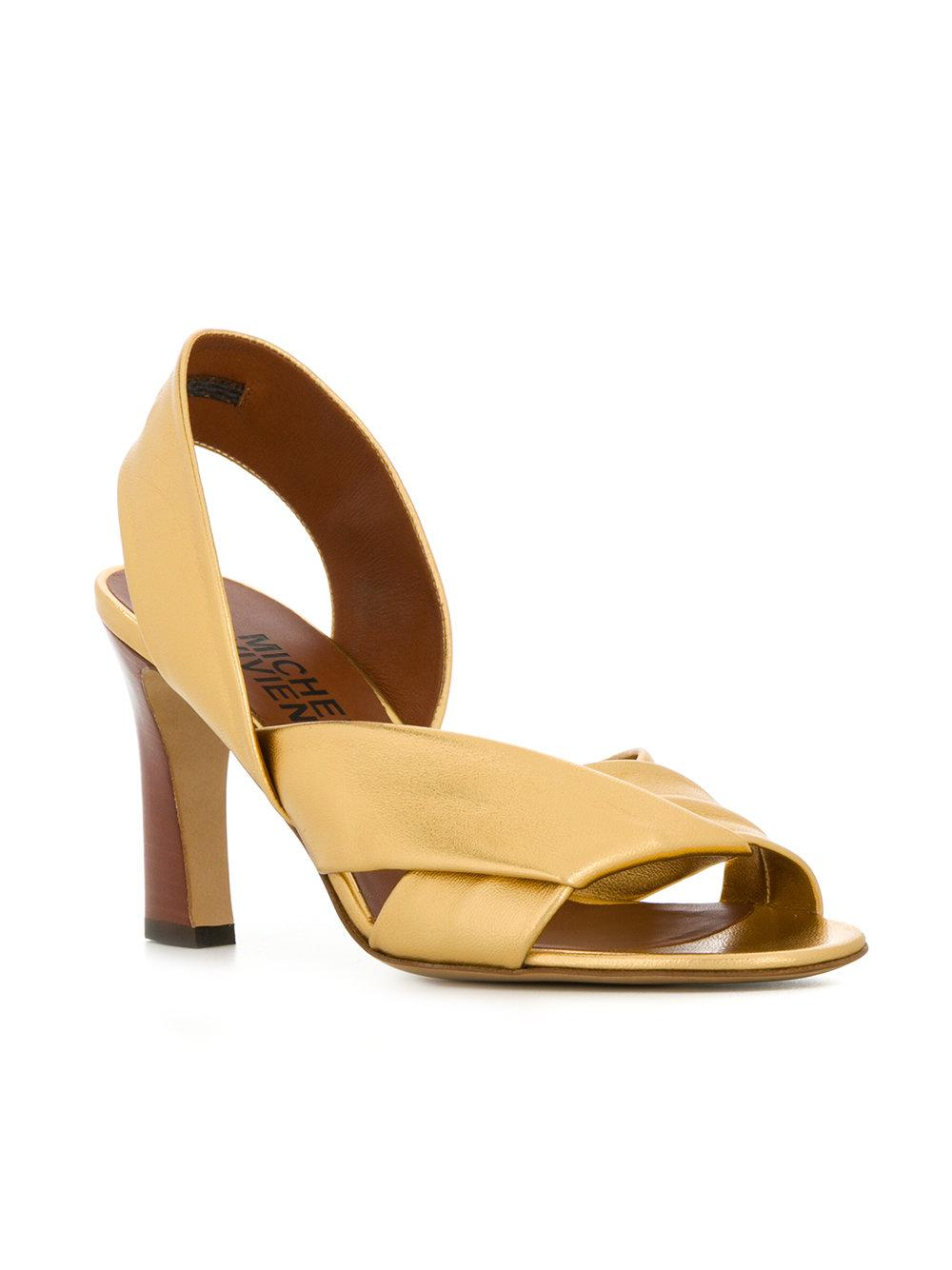 MICHEL VIVIEN Cross strap sandals