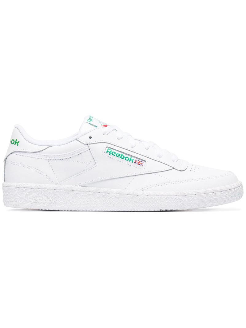 7cd5771106d Lyst - Reebok White Leather Workout Plus Sneakers in White for Men ...