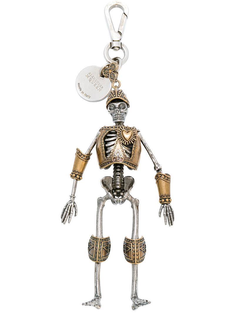 skeleton keyring - Metallic Alexander McQueen XYGvb