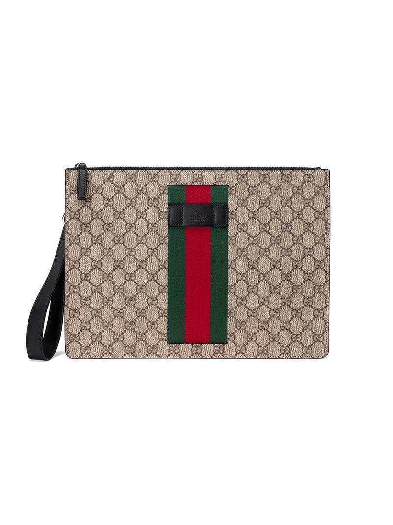 Lyst - Pochette Suprême GG à bande Web Gucci pour homme bf866513c2d