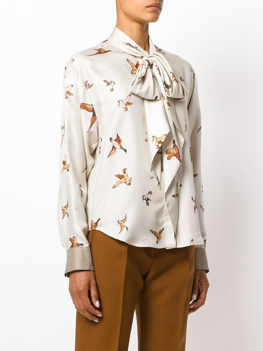 Lyst In Blusa Mulberry Stampata Natural pzrp8qX
