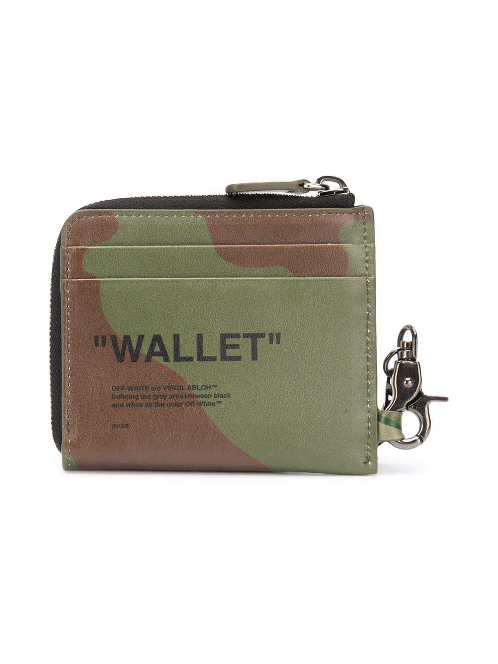 b0a8b682459 Lyst - Off-White c o Virgil Abloh Camouflage Print Wallet in Green for Men