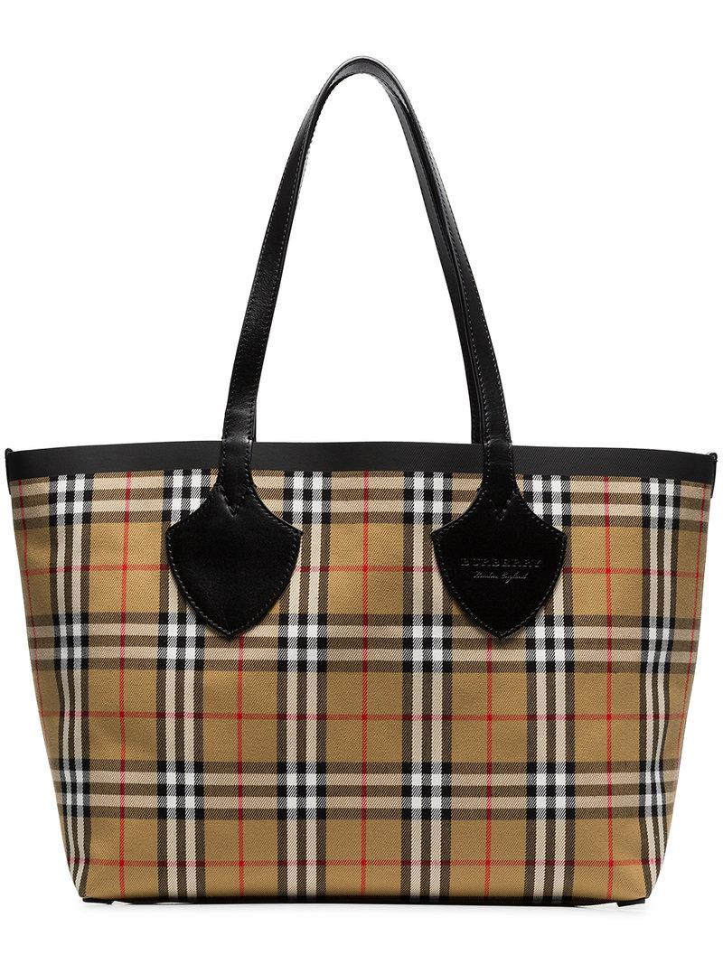 The Giant Reversible Tote in Plastic and Vintage Check - Nude & Neutrals Burberry m4opwIv