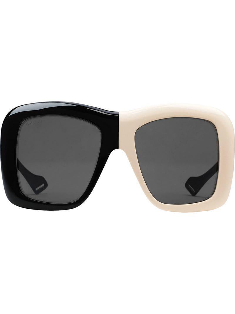 2e619e81586 Lyst - Gafas de sol con montura cuadrada oversize Gucci de color ...