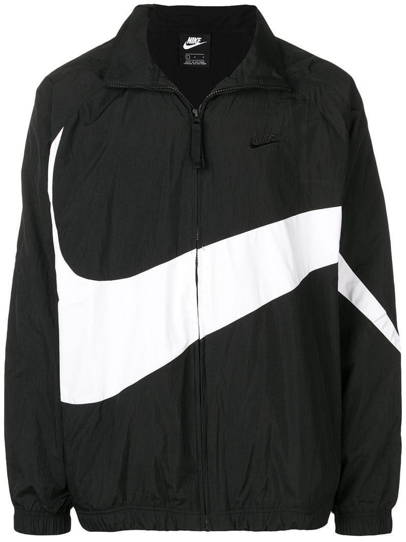 ebd04524ed3b Lyst - Nike Logo Print Track Jacket in Black for Men - Save 13%
