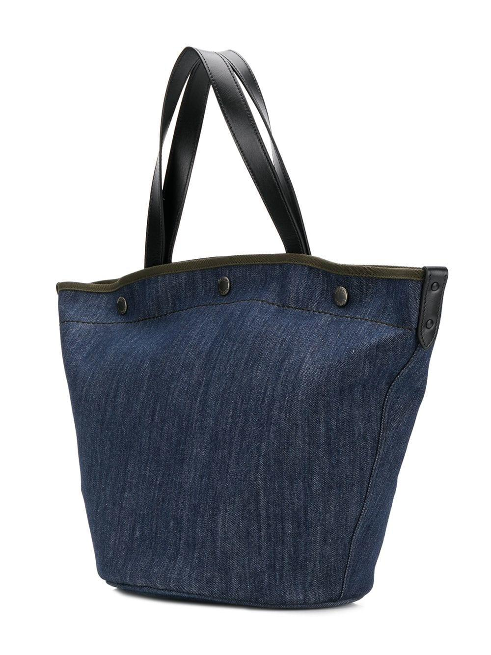 d629546f090f Prada - Blue Denim Shopping Tote - Lyst. View fullscreen
