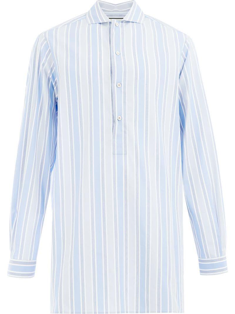 7ed3fb62c4b Lyst - Chemise longue à rayures Gucci pour homme en coloris Bleu