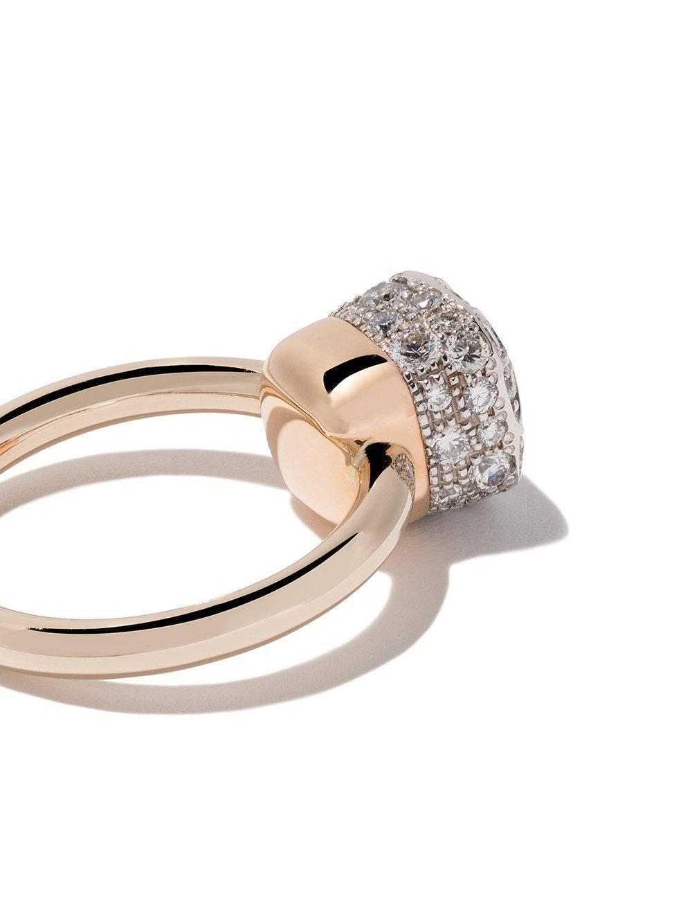 e8d2d4f0c583 Anillo Nudo Solitaire con diamantes en oro rosa 18kt y oro blanco ...