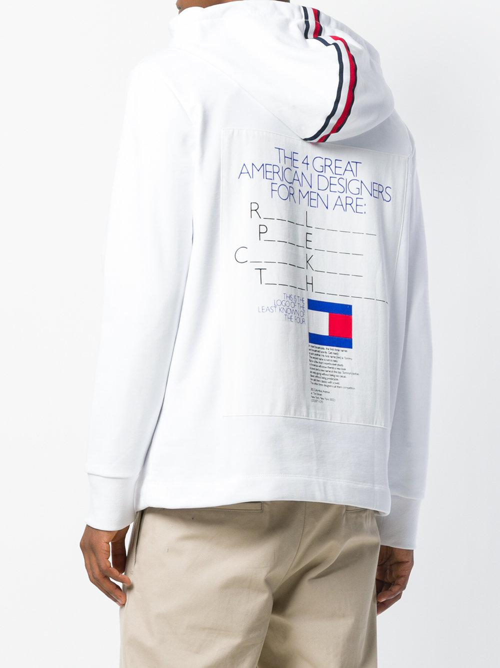 Tommy Hilfiger White Ad Campaign Hoodie for men