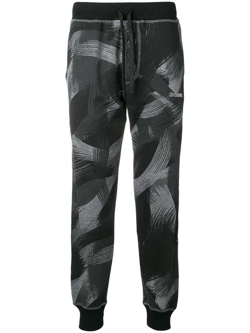 2784e907f85ac4 Lyst - Diesel Printed Track Pants in Black for Men