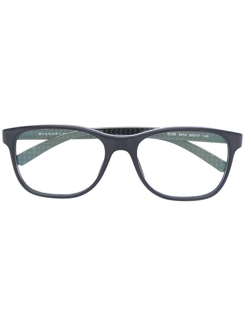 Lyst - Lunettes de vue à monture carrée BVLGARI en coloris Noir 091202903fda