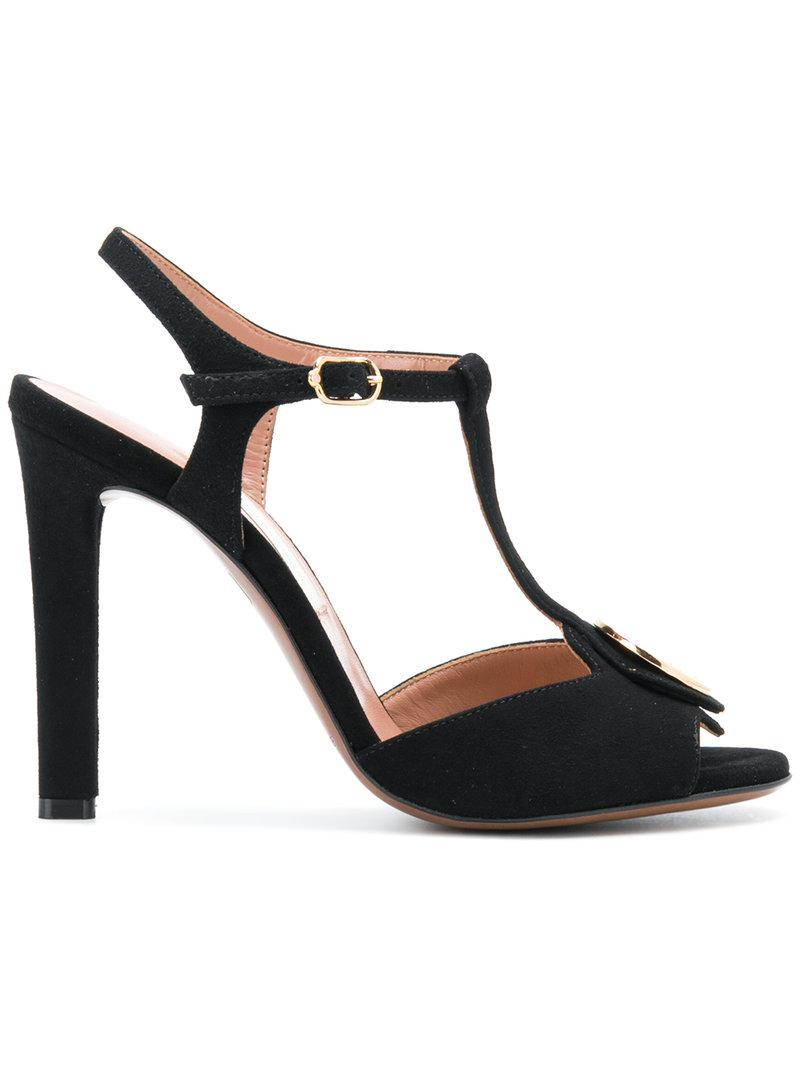 Logo Plaque Sandals - Black L'autre Chose Xieo8ylBC