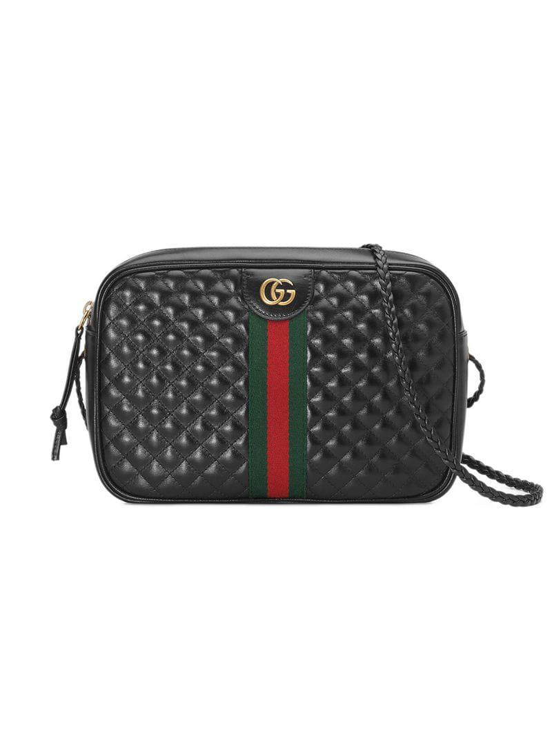 8401d2938c Gucci - Quilted Leather Small Shoulder Bag in Black - Save 21% - Lyst