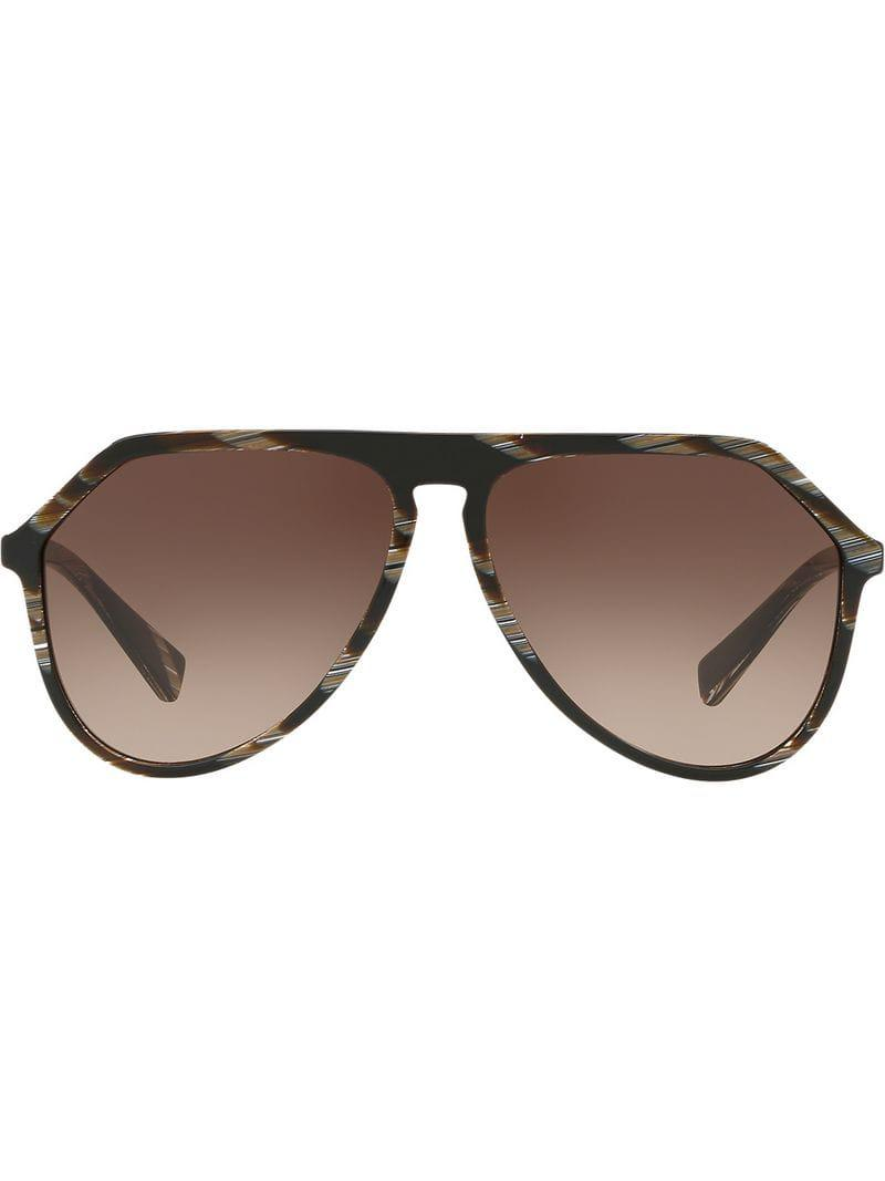 2cfd17a1ce6 Dolce   Gabbana Oversized Aviators in Brown for Men - Lyst