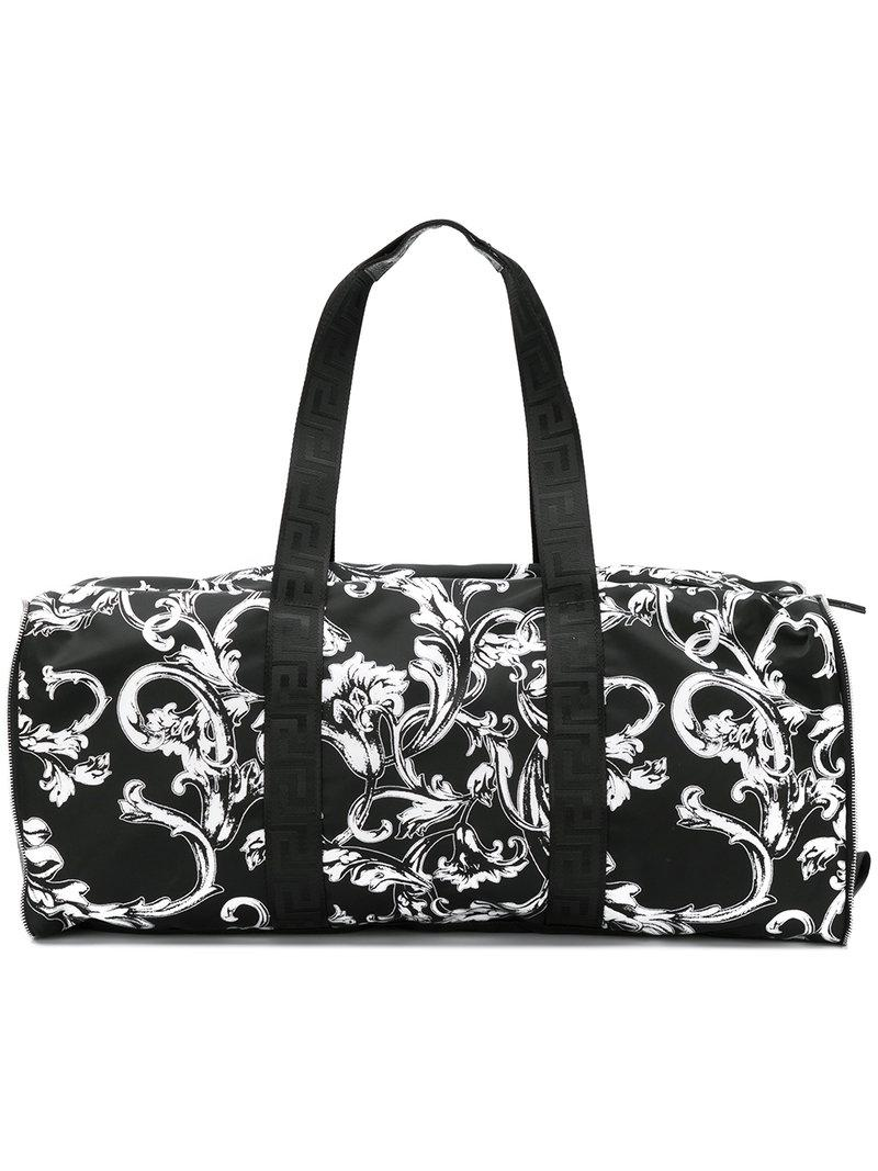 f5ec637a2714 Lyst - Versace Baroque Print Holldall in Black for Men