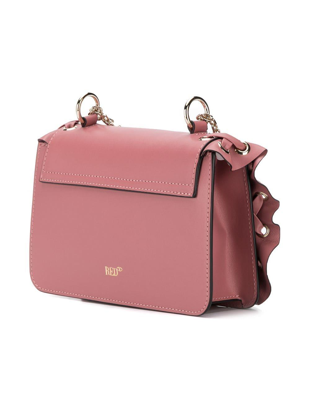 3a7962ed64 RED Valentino Red (v) Rockruffle Shoulder Bag in Pink - Lyst