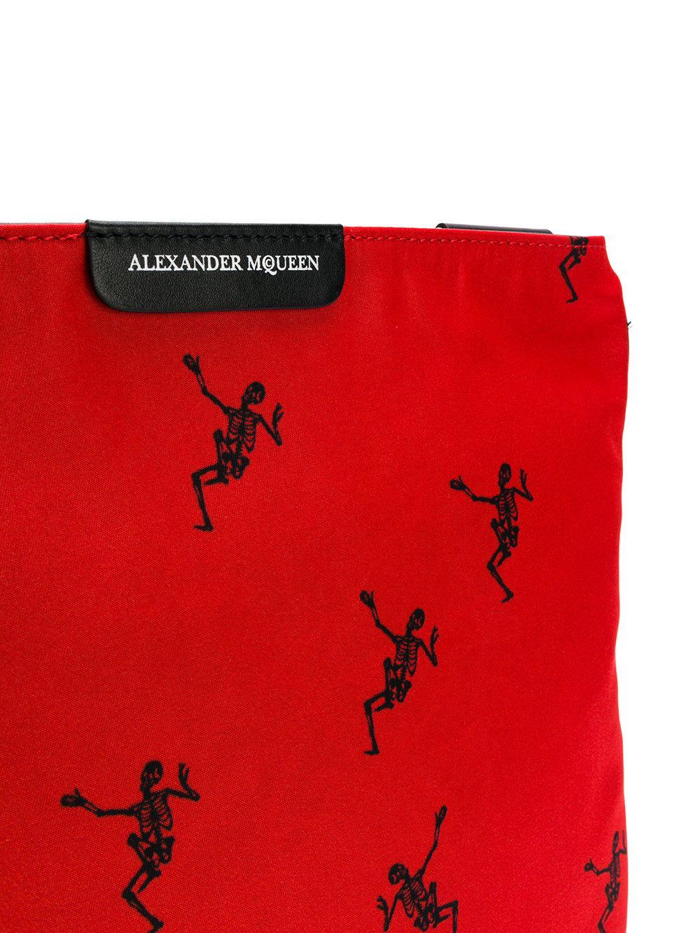 Alexander McQueen Sacoche à imprimé squelette x02Q9