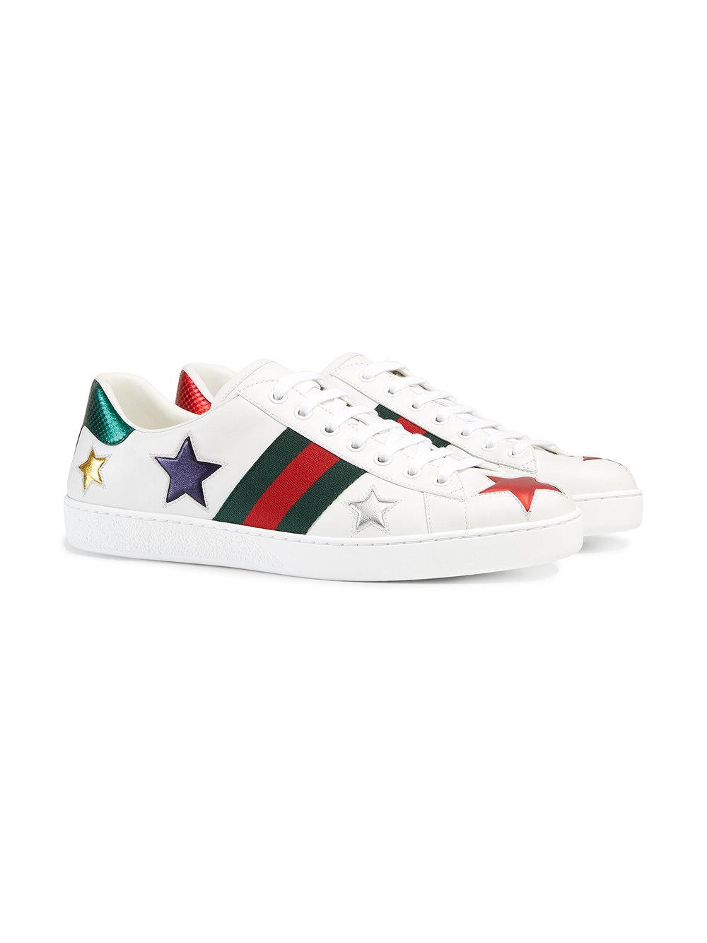 0ad4542cb5a Gucci Sneaker Bassa  ace  in White for Men - Lyst