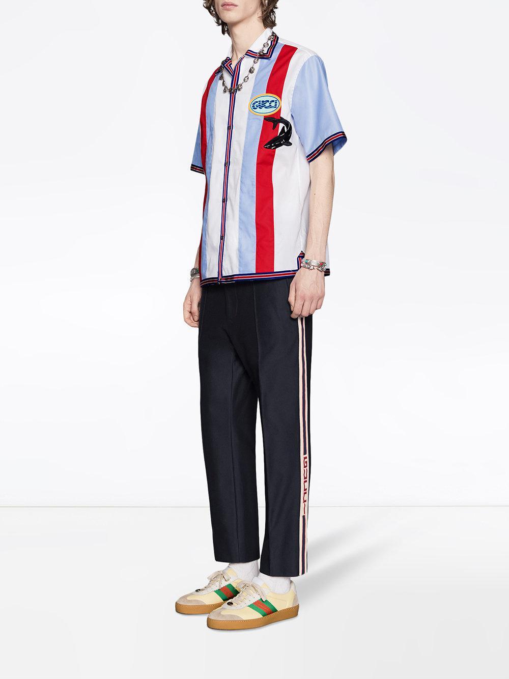 b389fb4d6fc Lyst - Pantalon de jogging à bandes logo Gucci pour homme en coloris Bleu