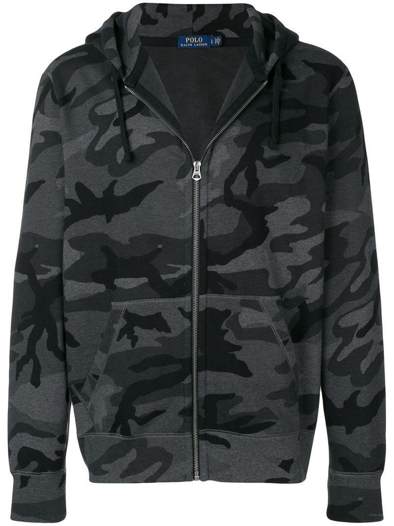 89fe02ca34aa Polo Ralph Lauren - Gray Camouflage Print Hoodie for Men - Lyst. View  fullscreen