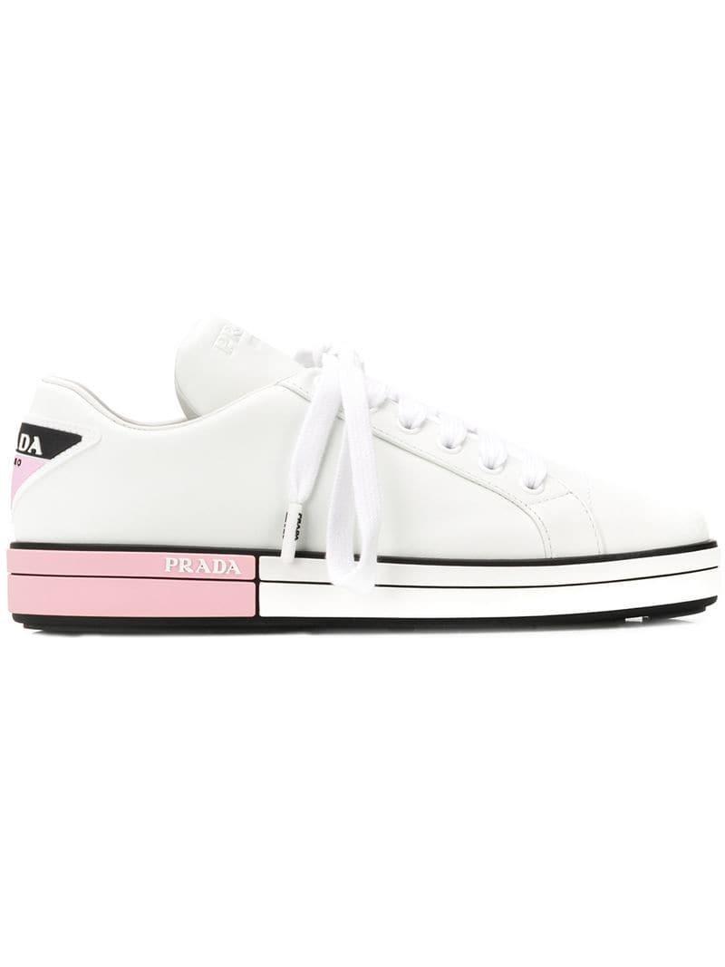 0901564dab2 Prada - White Platform Sneakers - Lyst. View fullscreen