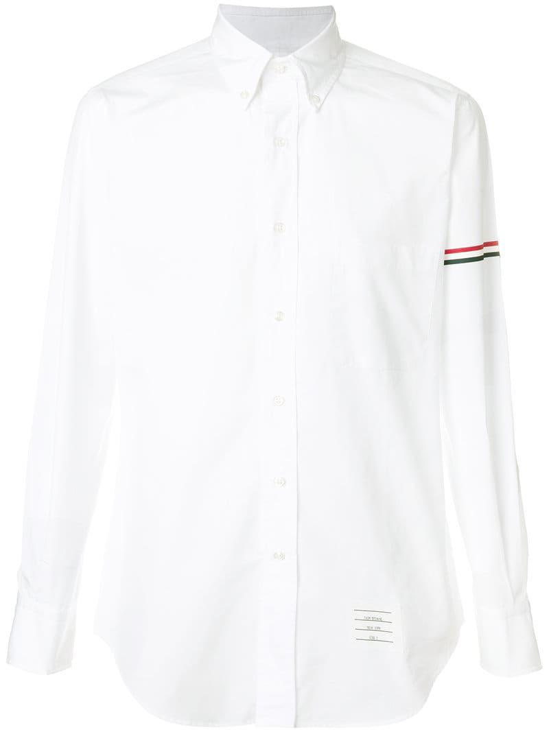a806fd3ddd1 Lyst - Thom Browne Rwb Hairline Armband Poplin Shirt in White for Men