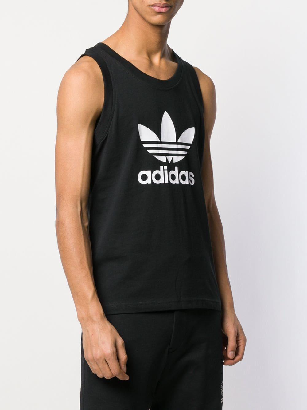 731834d41d8e3 Adidas - Black Trefoil Logo Tank Top for Men - Lyst. View fullscreen