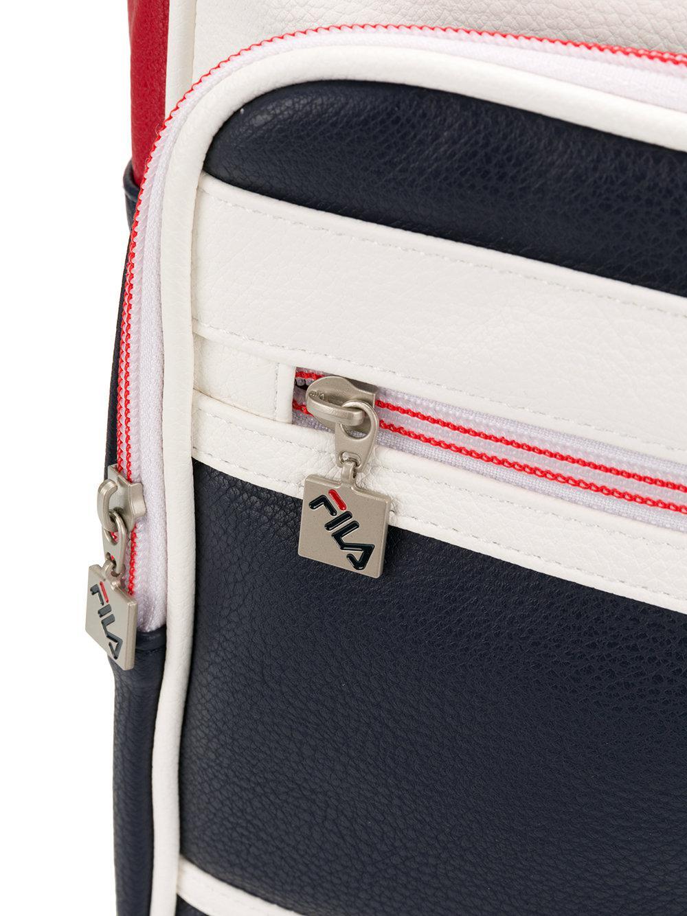 02ac9f8233 Lyst - Fila Colourblocked Basic Backpack in Blue for Men