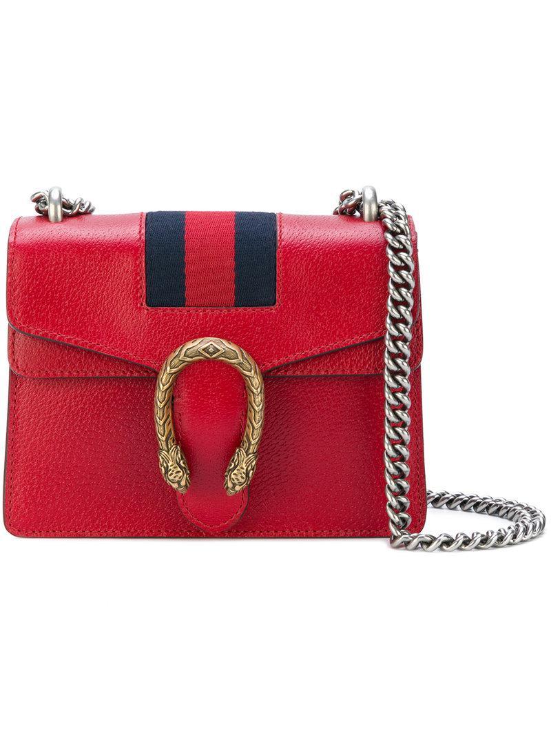 b6594fe76a96 Gucci Dionysus Shoulder Bag in Red - Lyst