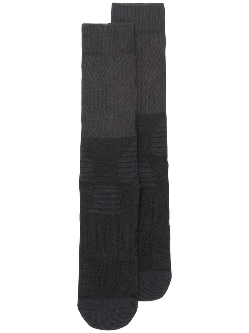 f61f6646d Y-3 Logo Socks in Black for Men - Lyst