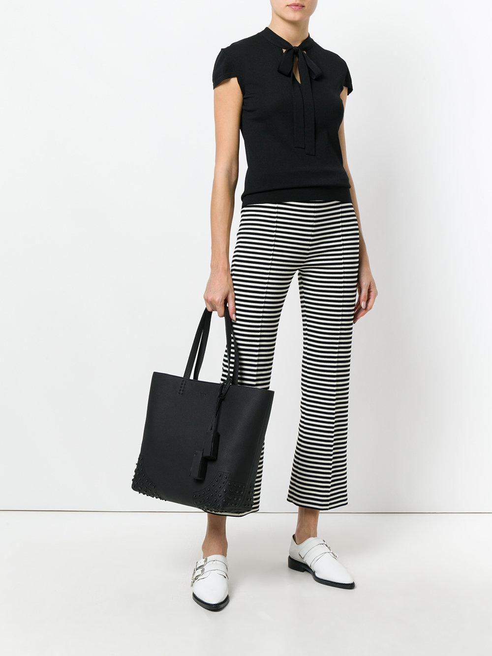 Tote Lyst In Black Soft Tod's Amr YYwtz