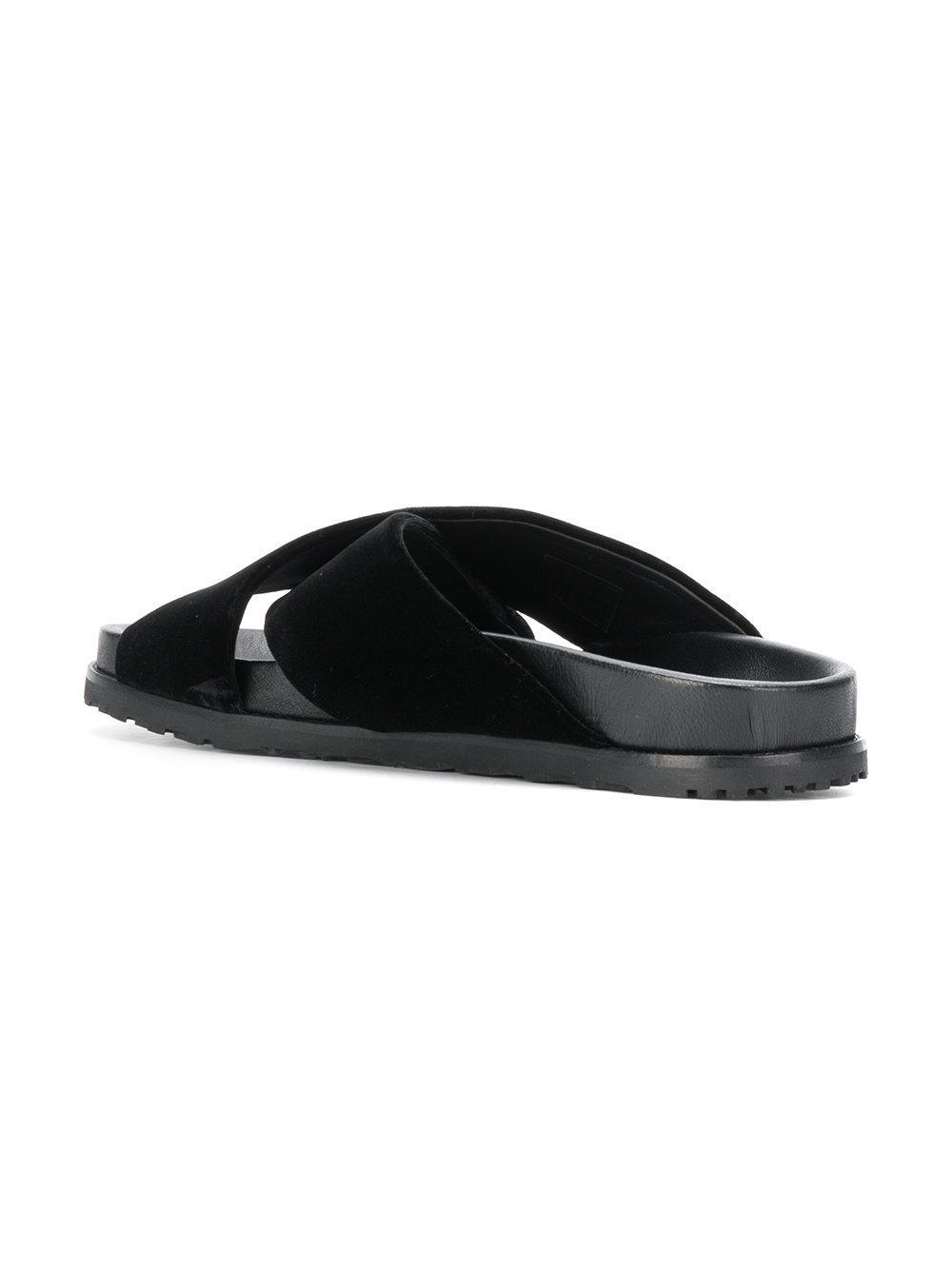 Saint Laurent Jimmy notched sandals - Black farfetch neri Eastbay En Venta La Salida Precios Baratos Descuentos De Liquidación gwmlHsijjX