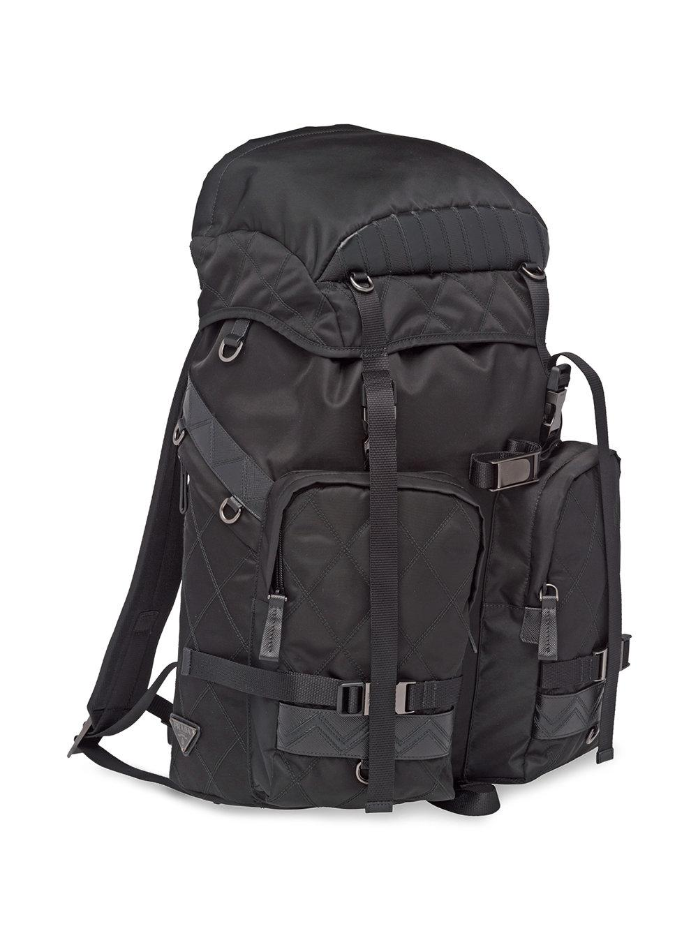 48d18fa4519d0a Prada Technical Fabric Backpack in Black for Men - Lyst