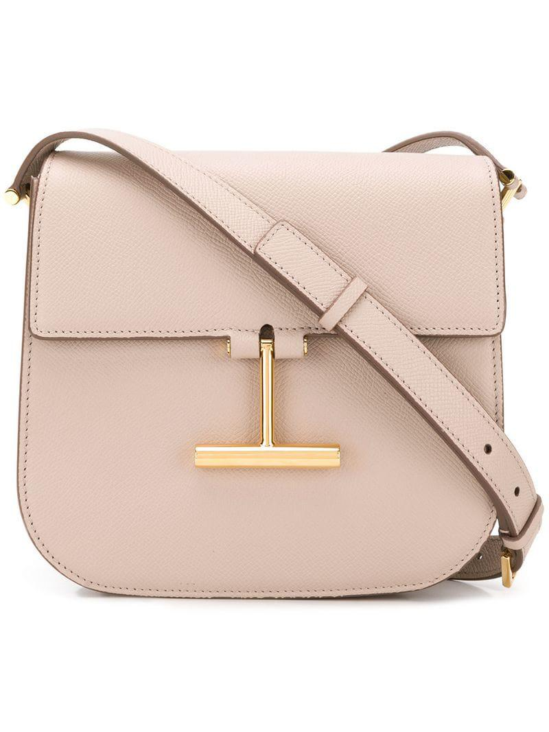 Tom Ford T Plaque Crossbody Bag in Pink - Lyst 4bd49717f0ee9